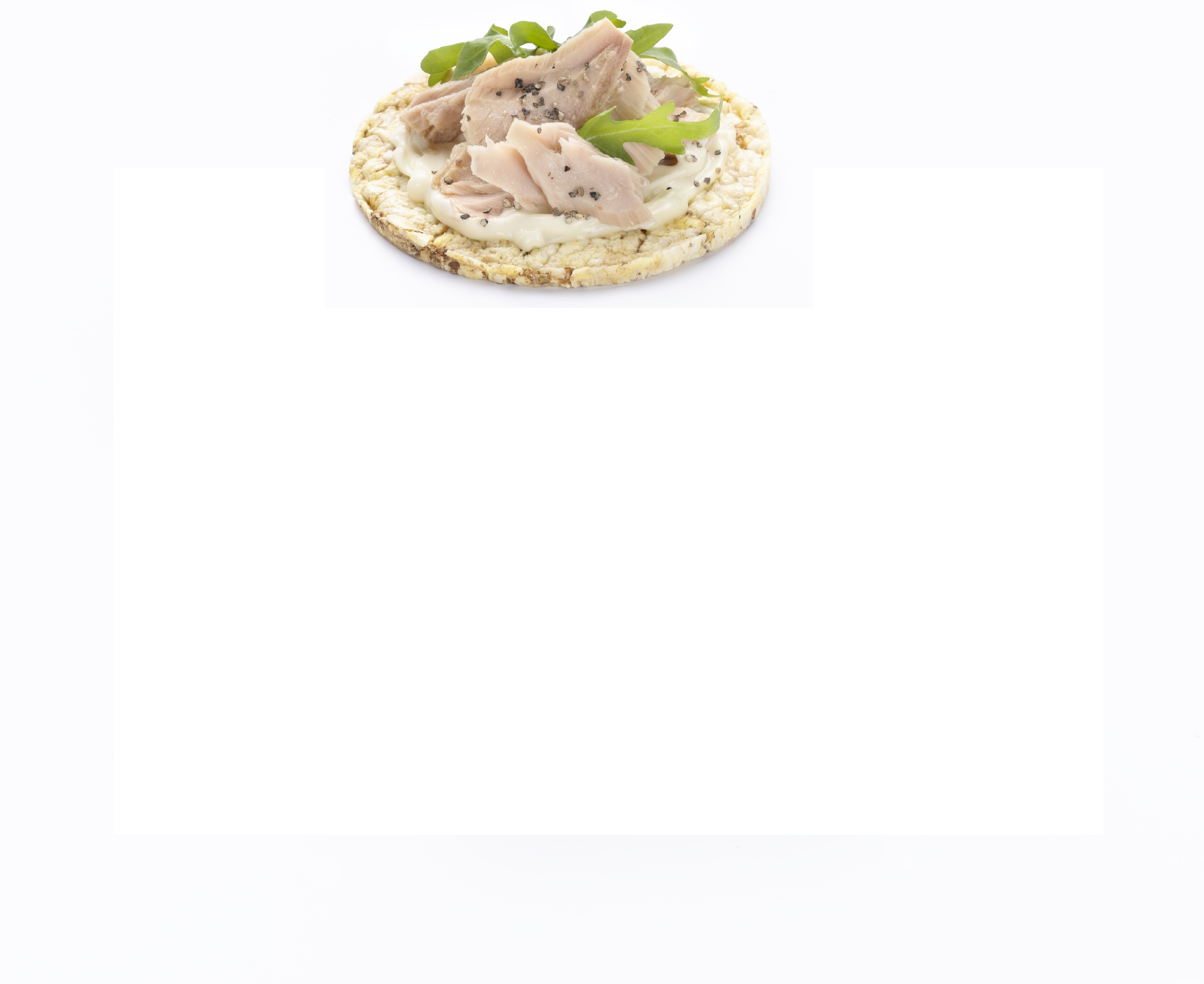 Quick office lunch of tuna & mayonnaise on Corn Thins slices