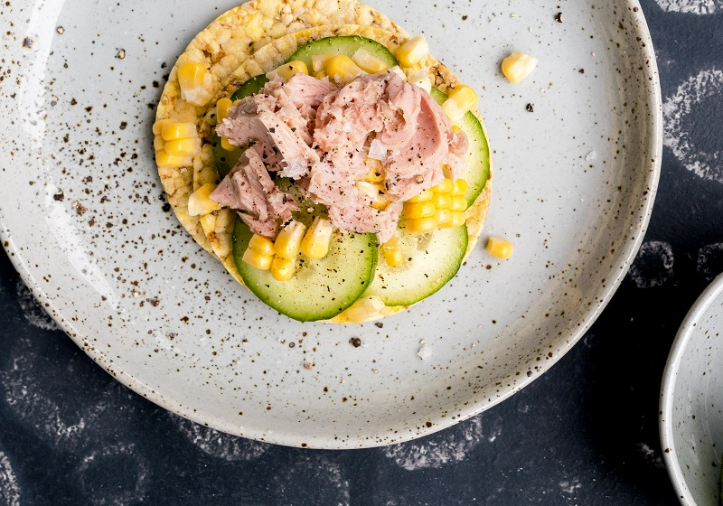 Cucumber, tuna & corn on CORN THINS for lunch. #cornthins, #glutenfree, #nongmo