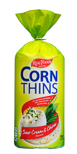 Sour Cream & Chives corn thins