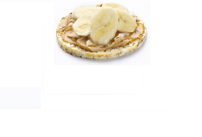 Banana, Honey & Nut Butter on CORN THINS slices