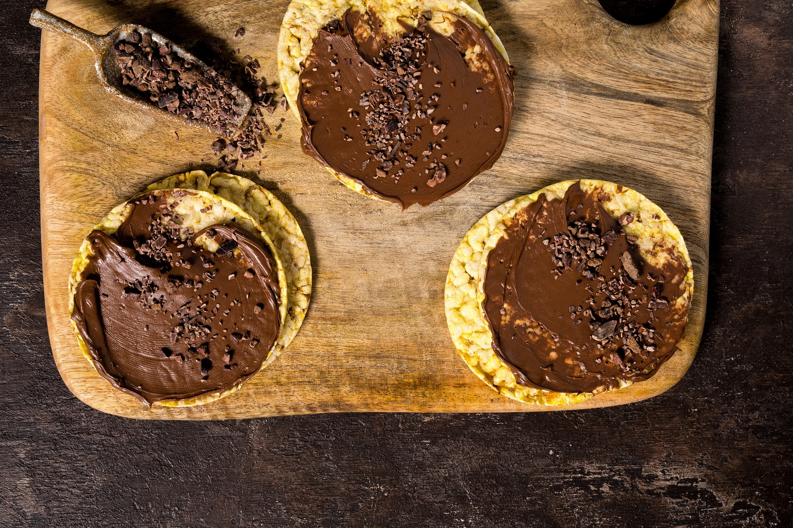 CORN THINS slices with Nutella & Cacao Nibs