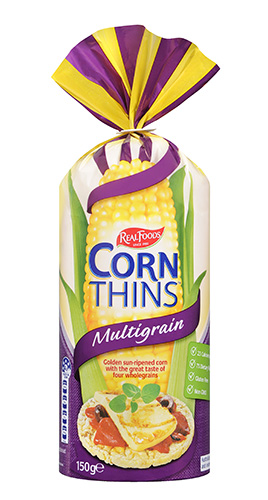 Multigrain corn thins
