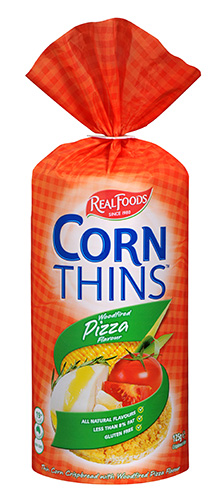 Pizza corn thins